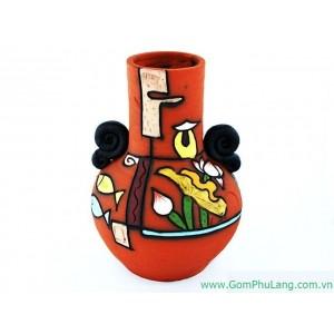 Bình hoa gốm phù lãng BH33