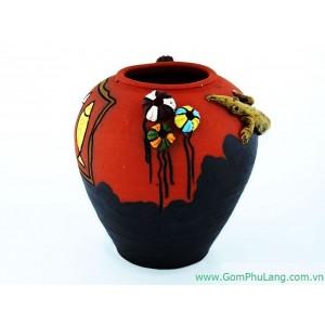 Bình hoa gốm phù lãng BH34