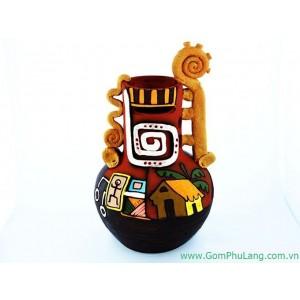 Bình hoa gốm phù lãng BH37