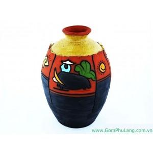 Bình hoa gốm phù lãng BH39