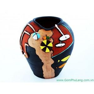 Bình hoa gốm phù lãng BH50