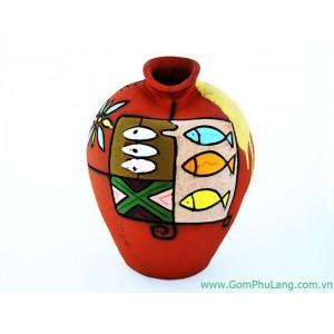 Bình hoa gốm phù lãng BH54