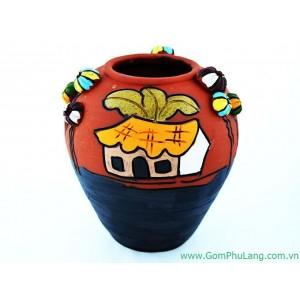 Bình hoa gốm phù lãng BH55