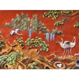 Tranh sơn thuỷ - ST11, tranh gốm phù lãng